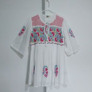 CATALOG CLASSICS Women's Tunic Hand Embroidered